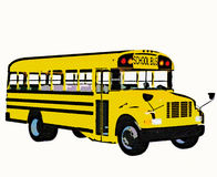 Yellow american school bus. A retro style yellow american school bus Stock Photography