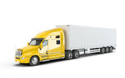Yellow american truck Stock Photography