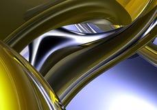 Yellow&chrom Drähte 02 vektor abbildung