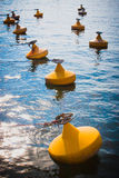 Yellow anchor buoy Royalty Free Stock Images