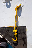 Yellow anchor Stock Photo