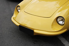 Yellow ancient car Stock Photography