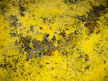 Paint Ancient Wall. Yellow Ancient Wall close up Royalty Free Stock Photography