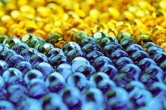 Yellow And Blue Balls Royalty Free Stock Photo