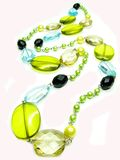Yellow And Green Beads Royalty Free Stock Photography