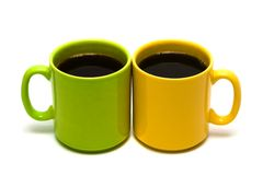 Free Yellow And Green Mug From Coffee Royalty Free Stock Photo - 5666505