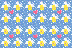 Yellow Angel with a pink heart - Pattern Stock Photos