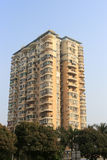 Yellow apartment building Royalty Free Stock Images