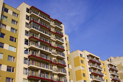 Yellow apartment buildings Royalty Free Stock Image