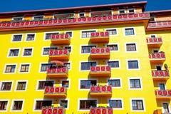 Yellow apartment house Royalty Free Stock Photo