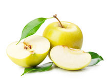 Yellow apple Stock Photos