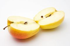 Yellow apple Stock Photo