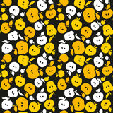 Yellow apple fruit seamless pattern for fabric Royalty Free Stock Image