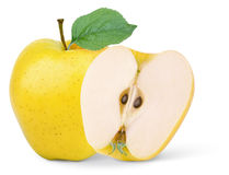 Yellow apple Royalty Free Stock Images