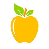 Yellow apple icon Royalty Free Stock Images
