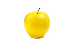 Yellow apple isolated on white Royalty Free Stock Images