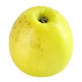 Yellow apple isolated on white background. Isolated fruits. Yellow Apple isolated on white with a clipping path as package design element. Healthy eating. Food royalty free stock images