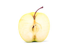 Yellow apple slice Royalty Free Stock Image