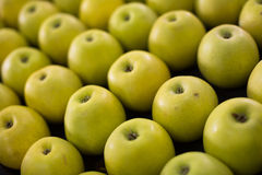 Yellow apples on the market Royalty Free Stock Photography