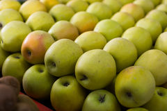 Yellow apples on the market Stock Photography