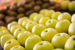 Yellow apples on the market Royalty Free Stock Image