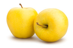 Yellow apples. On white background Stock Photo