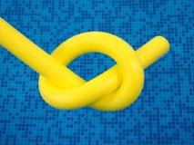 Yellow aqua noodle unit Stock Images