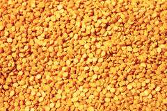 Yellow arahar dal. In utensil Royalty Free Stock Photo