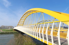 Yellow arch bridge Stock Photo