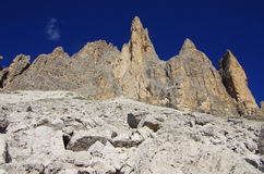 The Yellow Arete in Lavaredo Royalty Free Stock Image