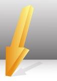 Yellow arrow background Stock Image