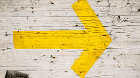 Yellow arrow background Royalty Free Stock Photo