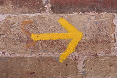 Yellow arrow Royalty Free Stock Photography