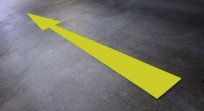 Yellow arrow Stock Images