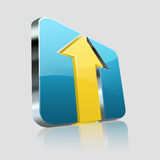 Yellow Arrow Logo Royalty Free Stock Images
