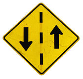 Yellow arrow sign royalty free stock image