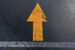 Yellow arrow sign Royalty Free Stock Photo