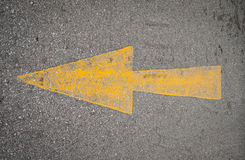 Yellow Arrow signs on the road Royalty Free Stock Photos