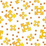 Yellow arrows Royalty Free Stock Photos