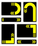 Yellow arrows. Royalty Free Stock Images
