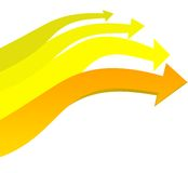 Yellow arrows pattern Royalty Free Stock Photography