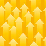 Yellow arrows Royalty Free Stock Photo