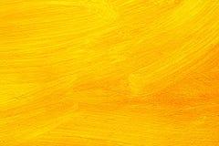 Yellow art painting close up Stock Photos