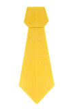 Yellow ascot cravat of origami. Stock Photography