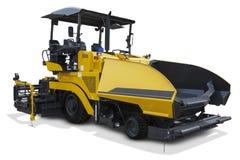 Yellow asphalt spreader machine Royalty Free Stock Photos