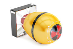 Yellow atomic bomb, 3D rendering Royalty Free Stock Photography