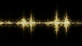 Yellow audio waveform equalizer abstract festive background Royalty Free Stock Image