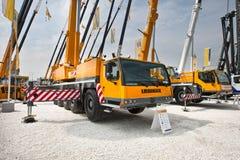 Yellow auto crane Stock Photography