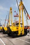 Yellow auto crane Stock Image