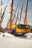 Yellow auto crane Royalty Free Stock Photo